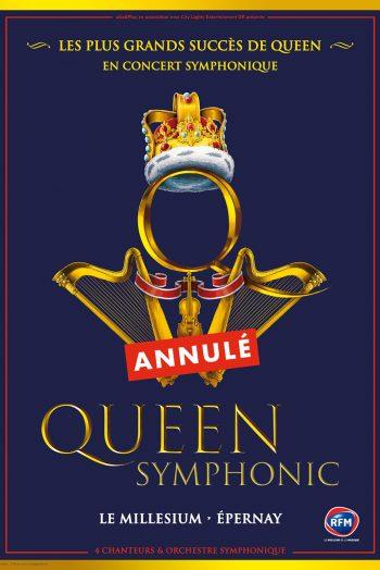 Affiche Queen Symphonic visuel concert le millésium