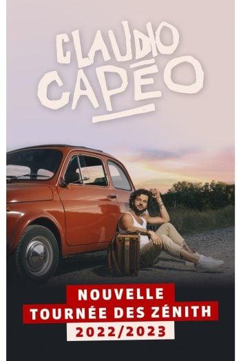 Affiche Claudio Capeo concert tournée report nouvelle date 2022 2023